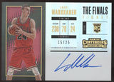 2017-18 Panini Contenders Lauri Markkanen The Finals Ticket RC Auto /25