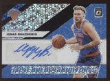 2019-20 Panini Optic Ignas Brazdeikis Prizm Fast Break Black RC Auto True 1/1