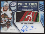 2019-20 UD Ice Premieres Dylan Sikura 2018-19 Update Logo Patch RC Auto /10