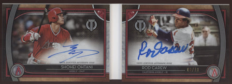 2020 Topps Tribute Shohei Ohtani Rod Carew Booklet Dual Red Auto /10