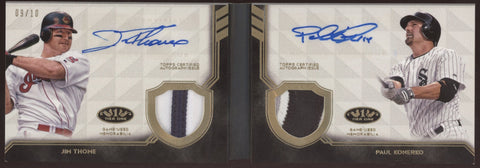 2018 Topps Tier One Jim Thome Paul Konerko Booklet Dual Patch Auto /10