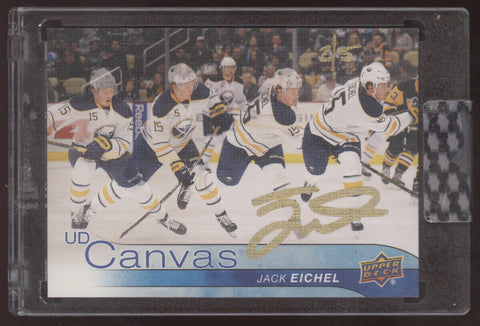 2019-20 Upper Deck Buybacks Jack Eichel UD Canvas Auto Autograph /5