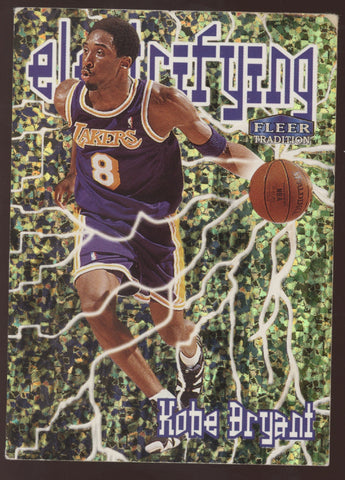 1998-99 Fleer Tradition #1 Kobe Bryant Electrifying Insert READ CONDITION