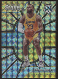 2019-20 Panini Mosaic #2 Lebron James Lakers Prizm Center Stage SP