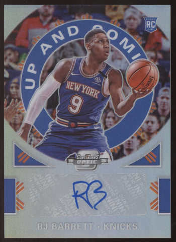 2019-20 Panini Contenders Optic RJ Barrett R.J. Prizm Up and Coming RC Auto /125