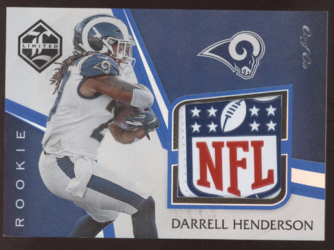 2019 Panini Limited Darrell Henderson NFL Logo Shield Patch RC True 1/1
