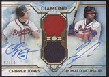 2020 Topps Diamond Icons Chipper Jones Ronald Acuna Jr. Dual Jersey Auto /10