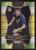 2016-17 Panini Select #150 Christian Pulisic Prizm Multi Tri Color RC Rookie