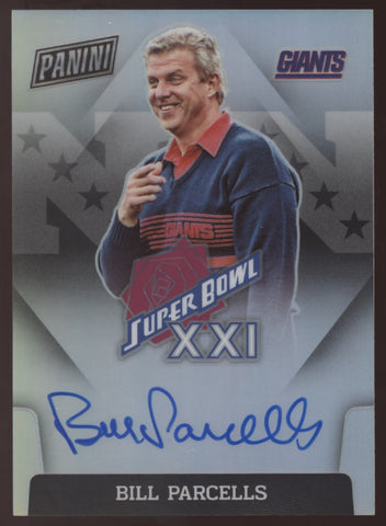2020 Panini Immaculate Bill Parcells Giants Super Bowl XXI Auto Autograph
