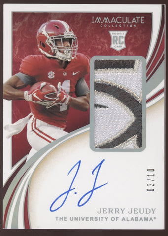 2020 Panini Immaculate Jerry Jeudy Bowl Logo Patch RC Auto Autograph /10