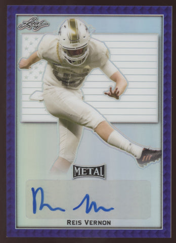 2020 Leaf Metal Draft Reis Vernon Kansas Purple RC Auto Autograph 8/12