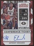 2020-21 Panini Contenders Anthony Edwards Conference Ticket RC Auto 10/10
