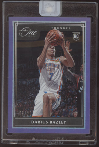 2019-20 Panini One and One Darius Bazley Purple Encased Base RC /20