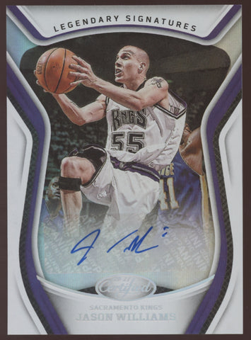 2020-21 Panini Certified Jason Williams Legendary Signatures Auto Autograph
