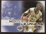 2003 UD Top Prospects Lebron James Kobe Bryant Mentors and Learners RC