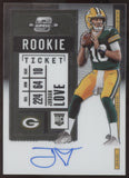 2020 Panini Contenders Optic Jordan Love RC Auto Autograph Packers Starter?