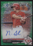 2017 Bowman Chrome Nick Senzel Green Shimmer Refractor RC Auto /99