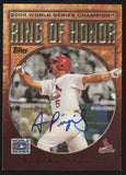 2009 Topps Ring of Honor Albert Pujols 2006 World Series Auto SSP