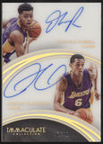 2015-16 Panini Immaculate D'Angelo Russell Jordan Clarkson Dual RC Auto /49