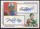 2009 Topps National Chicle Matthew Stafford Mark Sanchez Dual RC Auto /20