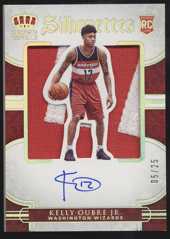 2015-16 Panini Preferred Kelly Oubre Jr. Prime Silhouttes Patch RC Auto /25