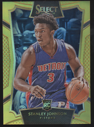 2015-16 Panini Select Stanley Johnson Prizm Gold RC Rookie /10