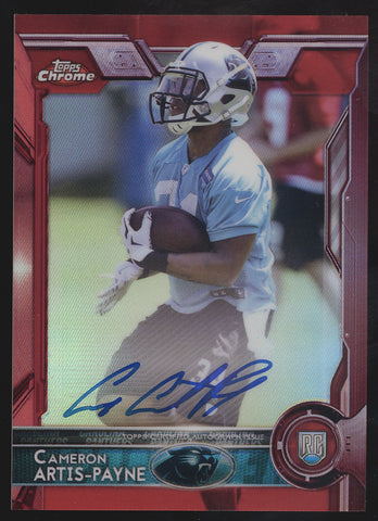 2015 Topps Chrome Cameron Artis-Payne Full Sized Red Refractor RC Auto /5
