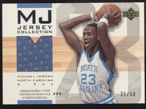 2001-02 UD MJ Jersey Collection #MJC11 Michael Jordan GU Jersey /50