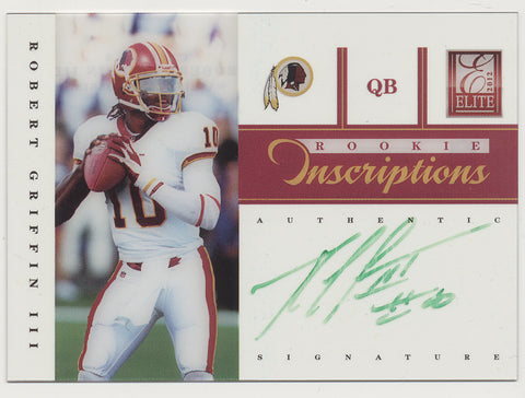 2012 Panini Elite Inscriptions Robert Griffin III Green RC Auto SP /10