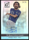 2015 Donruss Andrea Pirlo The Beautiful Game Silver Auto Autograph /25