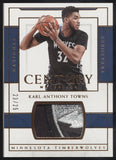2016-17 National Treasures Karl-Anthony Towns Century GU Logo Patch /25