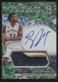 2016-17 Panini Spectra Buddy Hield Spectacular 3 Color Patch Green RC Auto /25