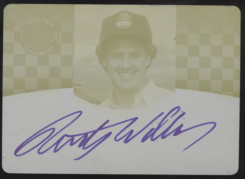 2009 Press Pass Legends Rusty Wallace Yellow Printing Plate Auto True 1/1