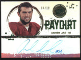 2012 Press Pass Andrew Luck Paydirt RC Rookie Auto Autograph /10