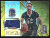 2014-15 Panini Spectra Stephen Curry Franchise Fabrics Gold Prizm Patch /10