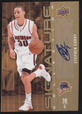 2009-10 UD Upper Deck Signature Collection Stephen Curry Auto READ CONDITION