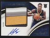 2015-16 Panini Immaculate Myles Turner 4 Color Premium Patches RC Auto /25