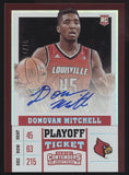 2017-18 Panini Contenders Donovan Mitchell Playoff Ticket RC Auto /15