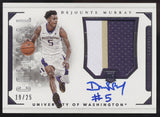 2016-17 National Treasures Dejounte Murray Colossal 3 Color Patch RC Auto /25