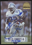 1996 Collector's Edge Emmitt Smith Super Bowl XXX Auto Autograph /500
