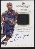2012-13 Panini Immaculate Isaiah Thomas 2 Color Patch RC Auto Autograph /100