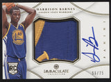 2012-13 Panini Immaculate Harrison Barnes Jumbo Patch RC Auto /75
