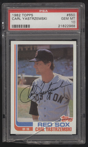 1982 Topps #650 Carl Yastrzemski Red Sox PSA 10 Gem Mint