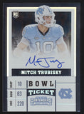 2017 Panini Contenders Mitch Trubisky Bowl Ticket RC Rookie Auto /25