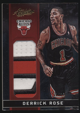 2012-13 Panini Absolute Derrick Rose GU Logo Jumbo Patch /25