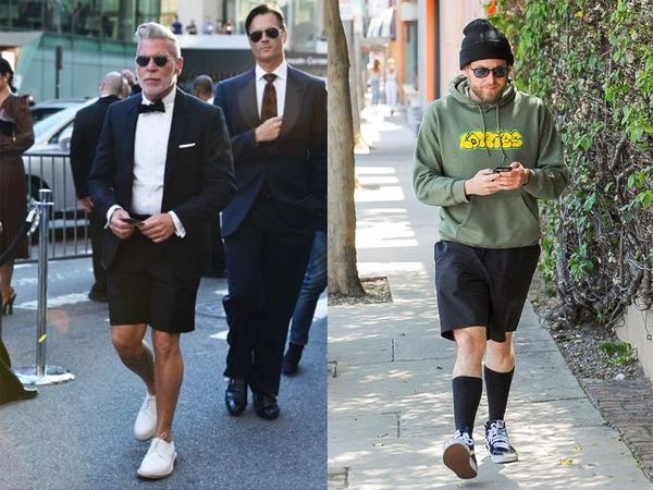 How to wear black shorts