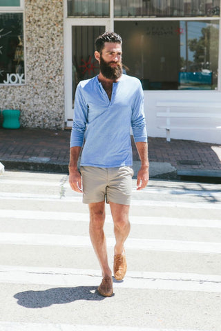 Huck 5 stone tailored shorts and shoes