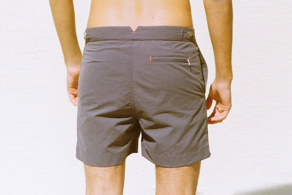 Huck 5 Slate Grey tailored swim shorts