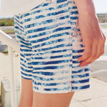 Huck 5 White Stripe tailored swim shorts