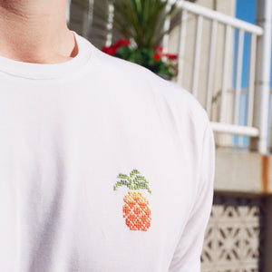 White Pineapple Crew Neck T-shirt